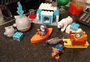 LEGO DUPLO 10803 THE ARCTIC SET WHALE POLAR BEAR FOX ESKIMO COMPLETE BABY WHALE