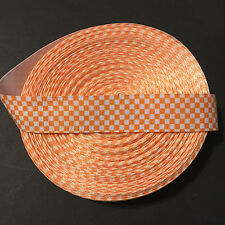 """1"""" Tennessee Volunteers Vols Checker Grosgrain Ribbon by the Yard (Usa Seller!)"""