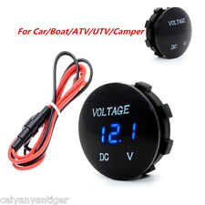 Blue LED Panel Digital Display Car Motorbike Volt Meters Voltage Gauge Meter Kit