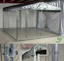 Alphapet 3m x 3m Heavy Duty Steel Chain Link Dog Cage Run Pen Enclosure Chickens