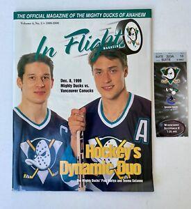 ANAHEIM MIGHTY DUCKS NHL IN-FLIGHT MAGAZINE, VOL.4 #3  Kariya & Selanne