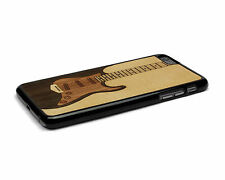 Handcrafted Wood iPhone 6 Plus Case Soft Rubber Sides by Nuwoods Electric Guitar