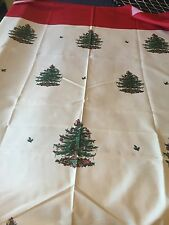 spode christmas pattern table cloth