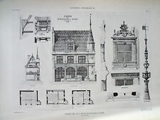 Maison dite de St François de Sales à Dijon  (Côte-d'Or) planche début XX°