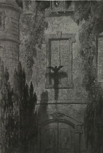 The Raven, illustration 11, 1832, GUSTAVE DORE Edgar Allan Poe Poster