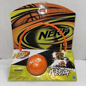 Nerf Sports Nerfoop, Orange/ Blue Ball New Sealed Basketball Hoop Over The Door