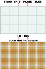 """Mosaic Stickers Transfers for 148mm  / 150mm  / 6"""" x 6"""" Inch Square Tiles (SM01)"""