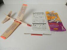1 NEW VINTAGE Guillows Wacky Wings Airplane Plane Balsa Wood Toy Glider 70s