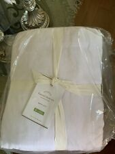 Washed Pottery Barn Flannel Solid white sheet set Queen New With Tags