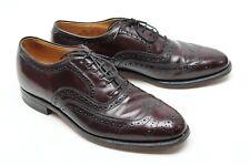 Johnston & Murphy Hommes Bout D'Aile Chaussures 8.5 D / B Cuir Bordeaux
