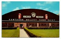 Hawthorn Mellody Farms Dairy, Milking Parlor, Libertyville, IL Postcard *6S(2)30
