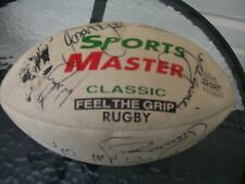 vintage nrl football rugby league leather ball signed mark gasnier st george