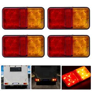 4x 12V-80V 10 LED Anhänger Rücklicht Rückleuchten PKW LKW Anhänger Beleuchtung