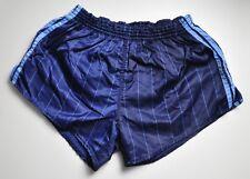 adidas vintage Nylon 80s Shorts shiny Sporthose blau Sprinter Gr. D7 L BB1