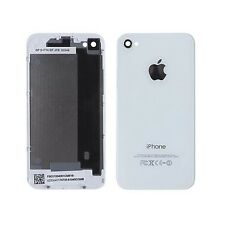 BLACK OR WHITE iPHONE 4 4G 4S BACK COVER GLASS PLATE HOUSING REPLACEMENT