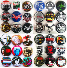 BILLY IDOL EXPLOITED COCK SPARRER OI POLLOI THE ADVERTS Punk Button Badges 36pcs