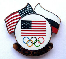 2014 Sochi Olympic Pin - Dual Flags
