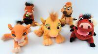 Disney The Lion King Plush Beanies Simba Timon Pumbaa Nala Pride Official Bundle
