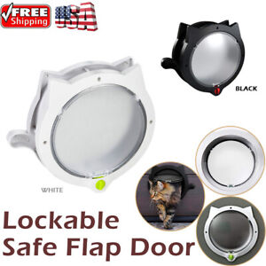 4 Way Lockable Safe Flap Door Pet Cat Dog Puppy Kitten Security Screen Gate New