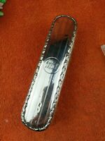 Antique Sterling Silver Hallmarked Clothes Brush 1908, Synyer & Beddoes