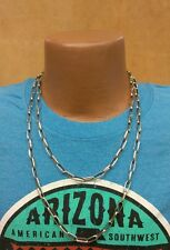 "Native Southwestern Sterling Silver Navajo Chain Necklace - 48"" - Plain Design"