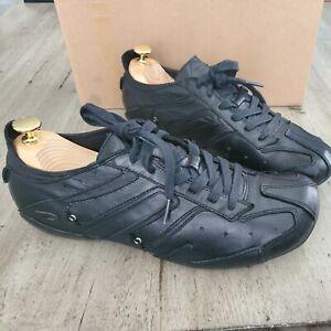 Diesel Almaty Black Leather Shoes Sz 10m