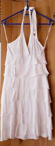 Sommerkleid, Neckholderkleid, Strandkleid, weiß Größe 34, neu, Hochzeitskleid