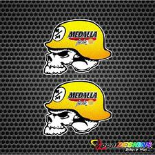 2x METAL MULISHA MEDALLA LIGHT BEER LOGO HELMET VINYL CAR STICKERS DECALS