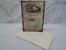 Klappkarte-Geschenkkarte-Grußkarte-Vintage-Retro-Shabby-French-Ostern-Hase-10024