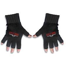 Guns N Roses Black Fingerless Gloves Band Logo Gift Rock Knitted Cotton Official