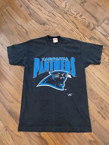 Carolina Panthers Nutmeg Vintage 1993 Black NFL Tee T-Shirt L
