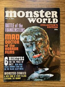 Monster World # 1 FN Mad Doctor Of Horror Films WARREN PUBLISHING