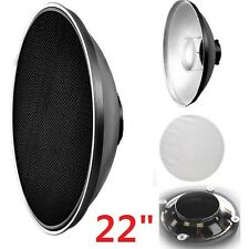 "Pro 22"" Interchangeable Beauty Dish Photo Studio Honeycomb Grids for Alien Bees"