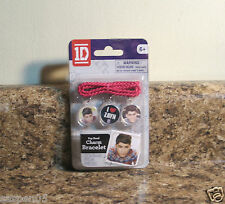 One Direction 1D Charm Bracelet ZAYN Pink Cord 3 Charms NEW