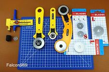 Rotary Cutter & Circle Compass Cutter A4 Cutting Mat Fabric Leather Tool Set Kit