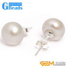 10mm Genuine Freshwater Pearl Stud Earrings Fashion Jewelry For Women Gift