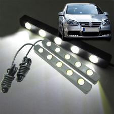 2 x White Car Daytime Running Fog LED Light 5W 5-LED 13cm Eagle Eye Bar DRL