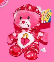 "Plush CARE BEARS Pj Party SECRET BEAR 9"" with Tag Series 8 CareBears Stuffed Toy"