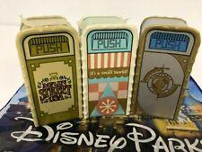 Disney Trash Can Salt Pepper Shakers Set 3 Main Street Small World Tomorrowland