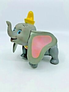 Vintage Hong Kong Walt Disney Productions Dumbo Figure Plastic Vinyl  [06]