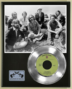 """Doobie Brothers """"Listen To The Music"""" Silver Record Display Wood Plaque"""