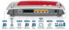 AVM FRITZBox 7490 1300 Mbps Wireless Router - Rot/Silber (20002584) - Modem