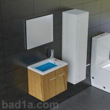 Waschbecken mit Unterschrank & Spiegel Waschtisch Badschrank inkl.Soft-Close