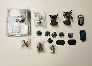 WizKids 2005 Lot Of Marvel And War Game Pieces Mini Figurines Cards Stands