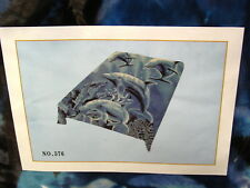 DOLPHIN DOLPHINS KING SIZE BLANKET BEDSPREAD