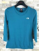 The North Face Ladies Size S Vapor Wick Green Blue T Shirt Top