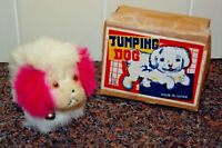 1950'S JUMPING DOG WIND-UP TOY WITH BOX & KEY
