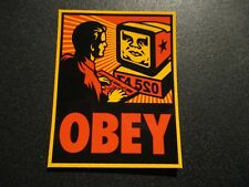 "SHEPARD FAIREY Obey Giant Sticker 2.25X2.75"" YOUR COMPUTER from poster print"
