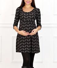 NIP Reborn Black & Gray Dovetail Maternity Tunic SZ XL