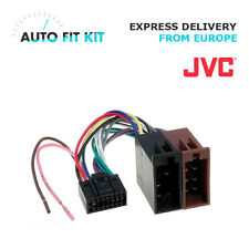 JVC 16 Pin ISO Wiring Harness Loom Adaptor Wire Radio Connector Lead - New